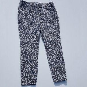 LOFT | Leopard Print Curvy Skinny Jeans Size 10